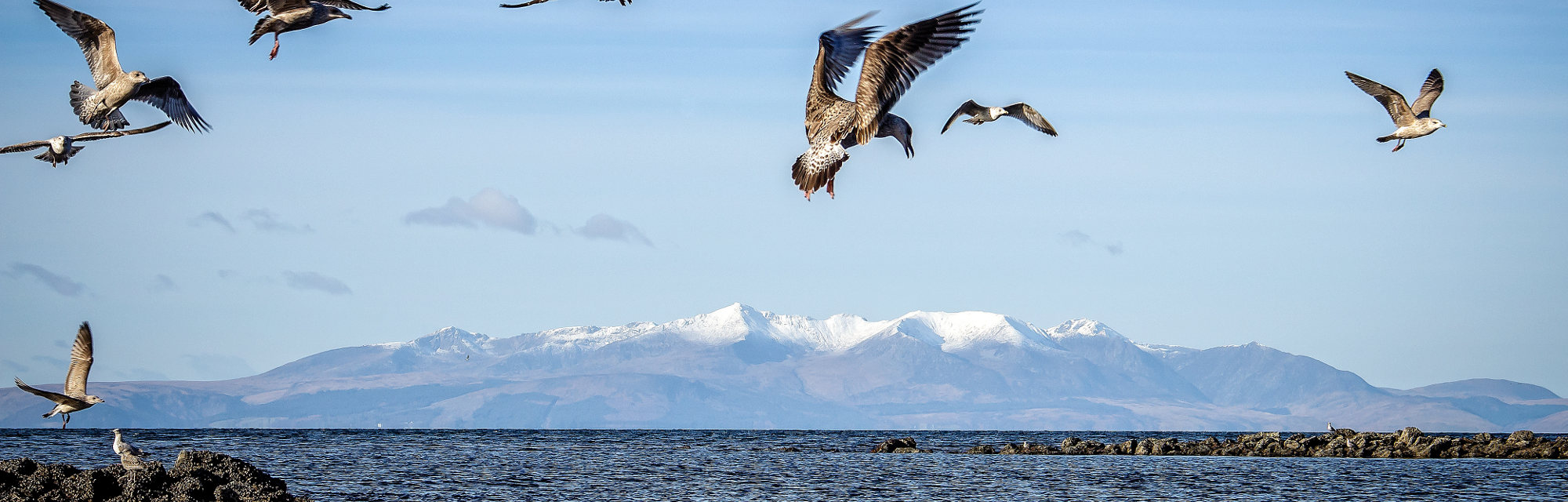 View of Arran from mainland